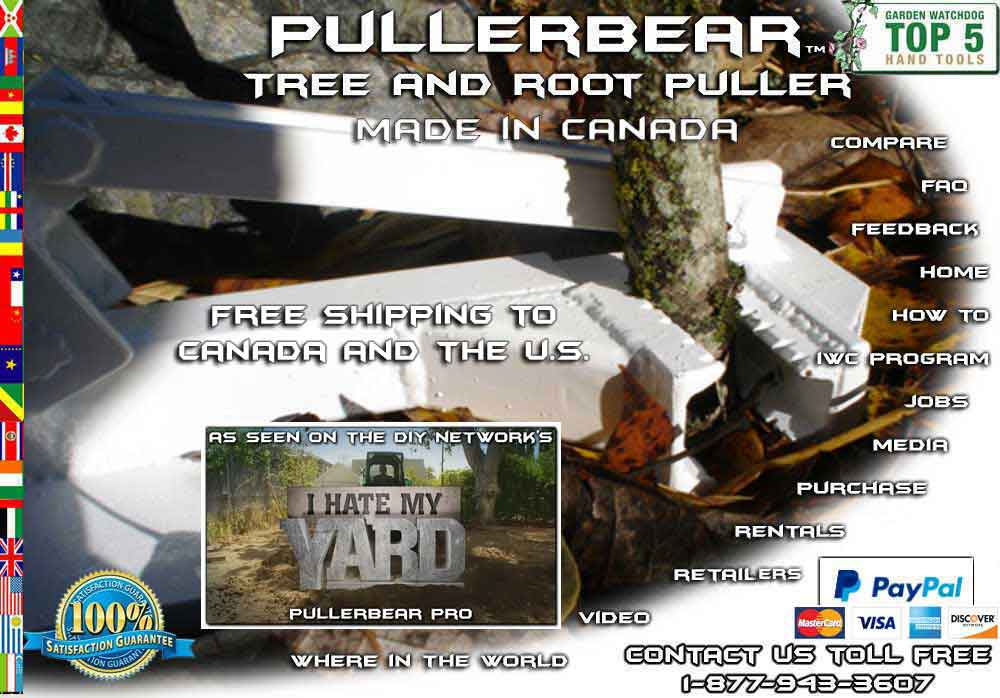 Welcome to Pullerbear Tree and Weed Puller Video Collection